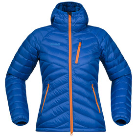 Bergans W's Slingsbytind Down Jacket w/Hood Athens Blue/Pumpkin/Light Winter Sky